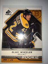 BLAKE WHEELER 2008/09 SP Game Used ROOKIE #04/99 1:2-3 cases!