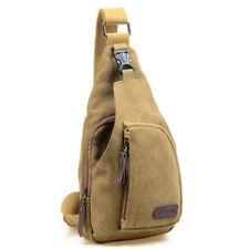 USA Men Canvas Bag Pack Travel Hiking Cross Body Messenger Shoulder Sling Chest