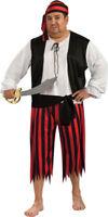 Morris Costumes Men's Pirate Shirt Pants & Sash Costume One Size Plus . RU17694