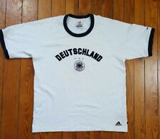Adidas OFFICIAL Embroidered Germany Deutschland UEFA Euro 2004 Soccer T-Shirt