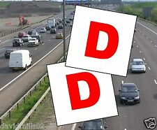 Learner Driver Magnetic Wales D Plates 100% magnet grip