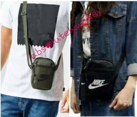 Nike Heritage Crossbody Bag Unisex Hip Festival Mini Fashion Bag Zip (Small)