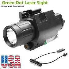 US CREE Q5 Flashlight&Green Laser Sight 20mm Picatinny Rail For Rifle Pistol Gun