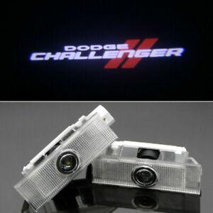2Pcs HD LED Step Door Courtesy Lights Ghost Laser Projector For Dodge Challenger