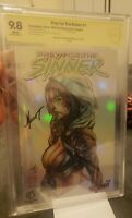 Prey for the Sinner CBCS 9.8 NYCC Chromium 4/20🔥 HTF Signed by Marat Mychaels