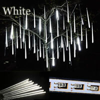 Security White Meteor Shower LED Icicle Snow Falling Rain Light For Xmas Decor
