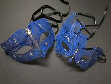 Masquerade ball couples metal eye mask Xmas New Year Eve Costume Dress up Party