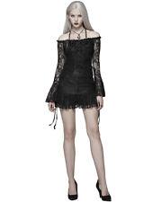 Punk Rave Womens Gothic Tunic Top Mini Dress Black Rose Lace Lolita Steampunk
