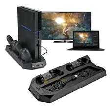 PS4 Vertical Stand Cooling Fan PlayStation 4 Console Cooler w/ Charging