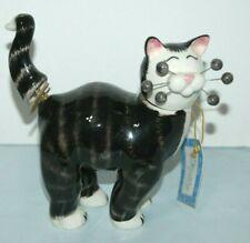 Whimsiclay Amy Lacombe 2005 Socks 86205 bobble head & Tail Cat