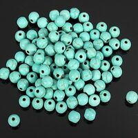 20 perle 6mm Naturel Pierre Turquoise creation bijoux, bracelet, collier
