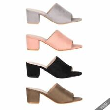 Slip on Mules Synthetic Heels for Women