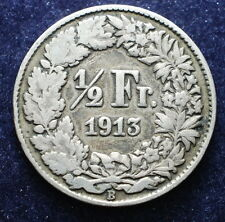 1913  Svizzera Switzerland  1/2  franc
