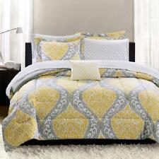 Mainstays Yellow Damask 8-Piece Bed in a Bag Bedding Set