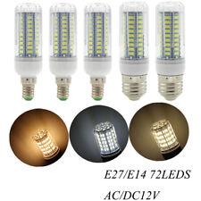 Dimmable AC/DC12V 24V LED Corn Bulb Light Lamp 5W 9W E27 E14 Cool/Warm White