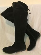CNV Black Over The Knee Suede Beautiful Boots Size 38 (312vv)