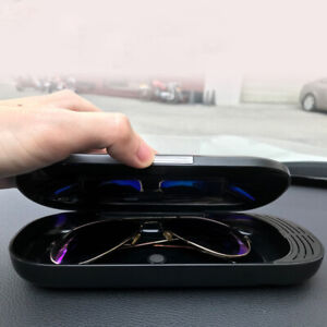 Car Glasses Case 3 In 1 Car Sunglasses Storage Box Glasses Holder Eyeglasses Con