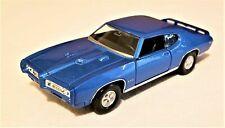 Welly - 1:34-1:39 Scale Model 1969 Pontiac GTO Blue (BBWE43714DB)