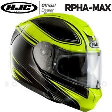 CASCO MODULARE APRIBILE MOTO HJC RPHA-MAX EVO FLEET MC4H CARBONIO-GIALLO FLUO