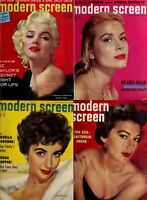 173 OLD ISSUES OF MODERN SCREEN-AMERICA MOVIES MAGAZINE VOL.2 (1946-1960) ON DVD