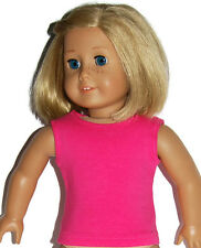 """CHERRY PINK COTTON TANK TOP - Doll Clothes - Fits18"""" American Girl Dolls"""