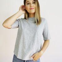 NWT Eileen Fisher Slubby Organic Cotton Tee Women's Petite Size XS
