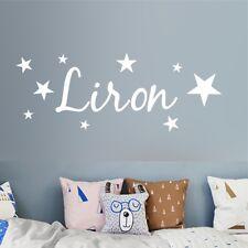 Custom Name Wall Sticker DIY Stars Boys and Girls Art Wallpaper Kids Room Decor