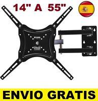 "Soporte de pared para TV LCD LED 4K Smart 14"" A 55"" televisor Giratorio Inclina"