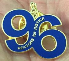 LIVERPOOL CUTOUT BLUE 96 REASONS FOR JUSTICE  ENAMEL PIN BADGE