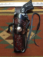 "Left Hand Ruger Single Six Ten Uberti Stallion 5.5"" Western Leather Drop Holster"