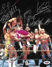 Razor Ramon Bret Hart Lex Luger 123 Kid + Signed 8x10 Photo PSA/DNA COA WWE Auto