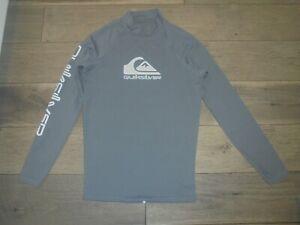 Quiksilver gray long sleeve rash guard shirt size S