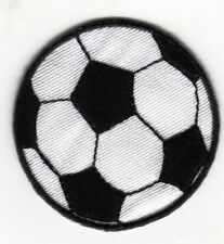 Iron On/ Sew On Embroidered Patch Badge Football Foot Ball Soccer Pitch Kit Play