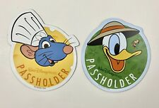 Disney World Annual Pass Holder Epcot Car Magnets 2020 Donald & Chef Remy NEW