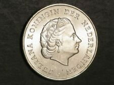 NETHERLANDS ANTILLES 1964 2 1/2 Gulden Silver Crown UNC
