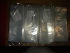 """1900 3x8"""" Clear Poly Bags 2-Mil Layflat Open Top End Pe Plastic Baggies Case"""