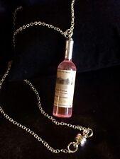 Pink Bottle Pendant Charm Necklace