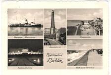 """AK Dampfer """"Rheinland"""" vor Insel Borkum 1955"""