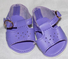 Purple Color Sandals Shoes Fit American Girl Wellie Wishers Dolls and H4H