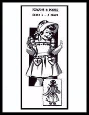 Pinafore DRESS Sunsuit Playsuit BONNET Pattern BABY GIRL Child Hat 1-3 ~MO 5113~