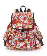 LeSportsac Nintendo Voyager Backpack Super Mario Travel Red Free Ship NWT