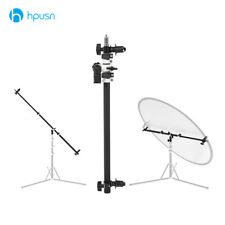Holder Bracket Swivel Head Reflector Disc Arm Support with Telescopic Boom Arm