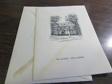 WILKES COLLEGE - WILKES-BARRE PA - 1959 12TH COMMENCEMENT INVITATION - ORIGINAL