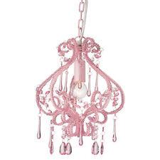 Shabby Chic Pink DARLING Chandelier Crystal Beaded Light New Bedroom Lighting