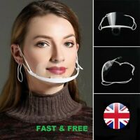 Face Shield Face Visor Protection Mask ppe Shield Transparent Clear Plastic UK