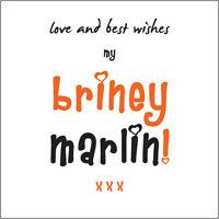 """""""Love & Best Wishes my Briney Marlin"""" Darlin Bday/Valentines Card 4 her Cockney"""