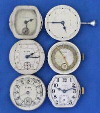 Vintage Antique Art Deco Elgin Mens Wrist watch Movements Lot parts repair