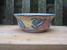 CARTER STABLER POOLE POTTERY FLORAL HAND PAINTED BOWL ART DECO