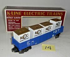VINTAGE 1994 K-line K900051C Trains Collector's Club Car Gondola Crate W/Load 14