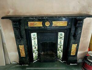 Victorian Period Slate Fireplace Surround.